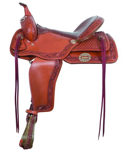 1067 Barrel/Pleasure/Trail saddle with Flex tree