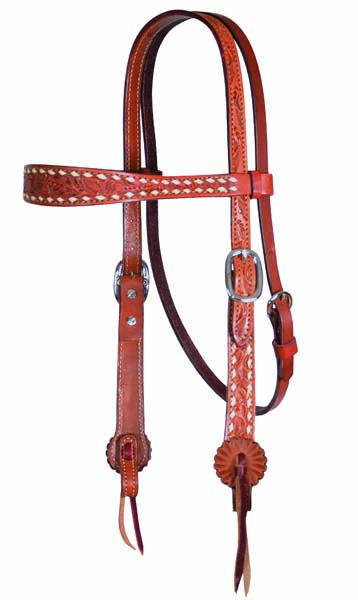 2800-AB HEADSTALL OLD TIMER, AA TOOLING, BUCKSTITCH