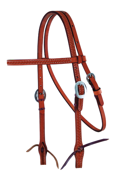 E-2015-CK ELITE CHESTNUT STRAIGHT BROW HEADSTALL