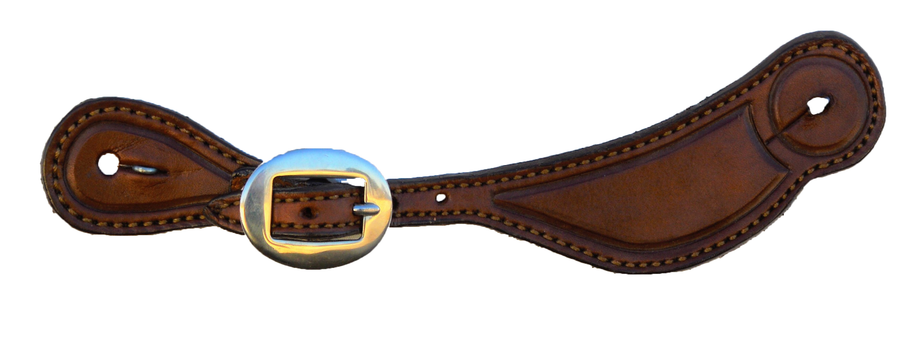 382-TO Ladies Spur Strap with Tooled Outline
