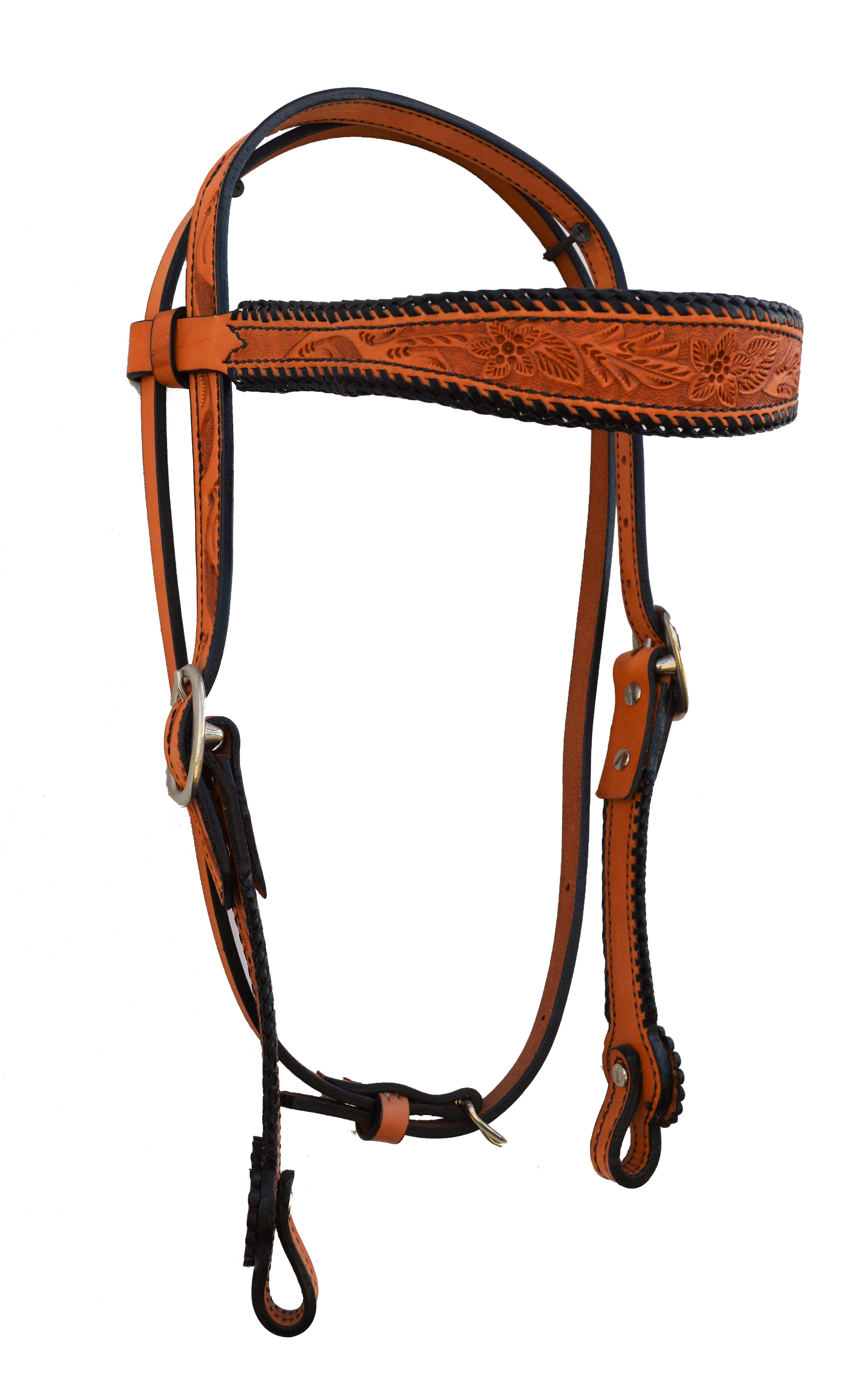 2608-R Russet Headstall w/ Tooling