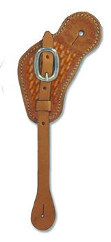 384-K Cowboy Spur Strap w/ some Basket Tooling