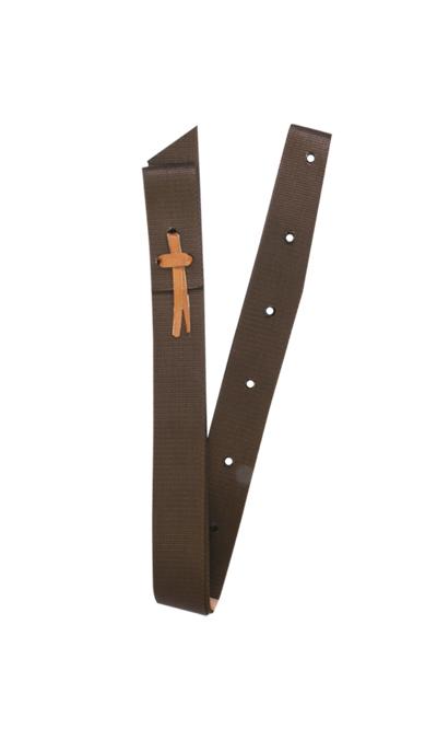 J-101-S Nylon Tie (Chocolate Brown)