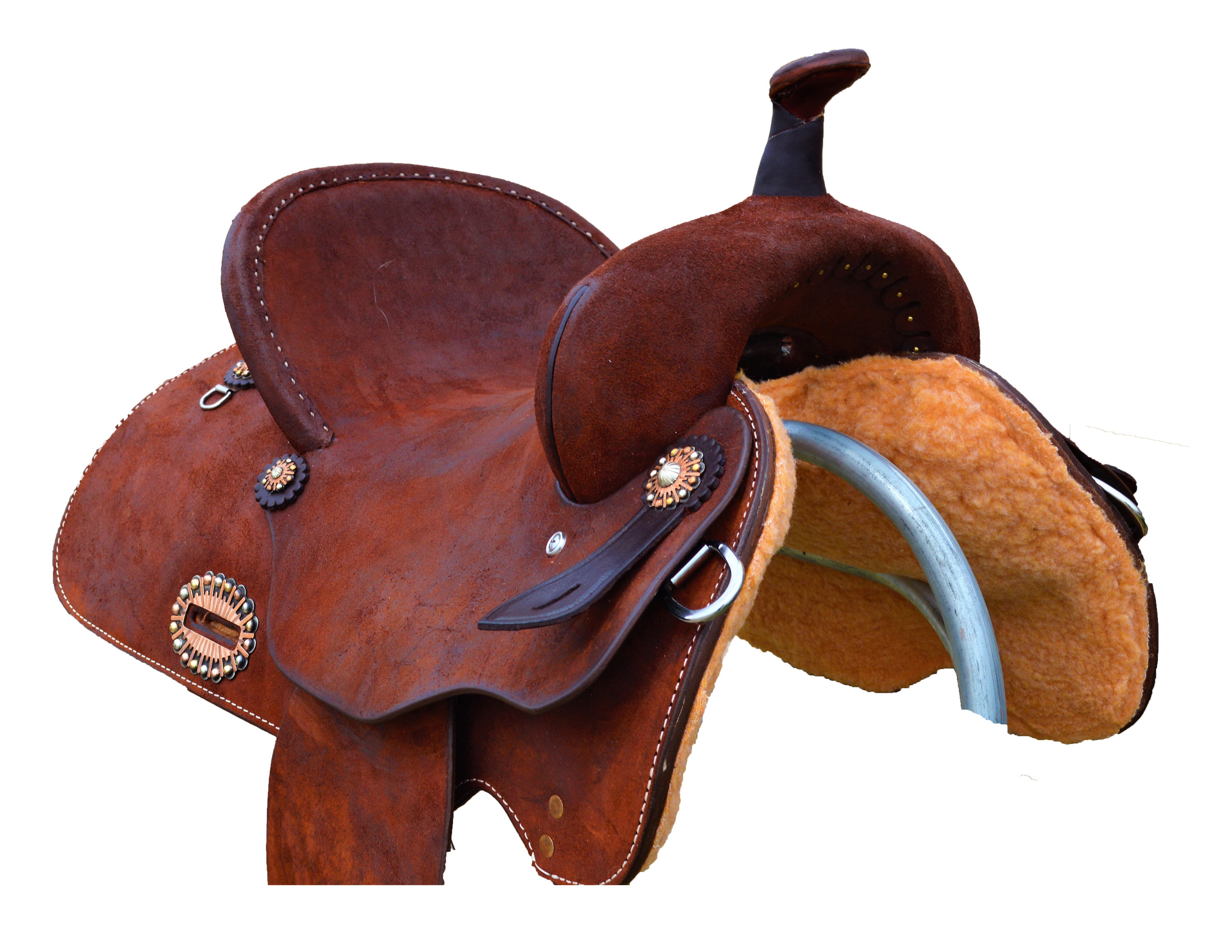1418 Barrel Saddle in fully oiled roughout