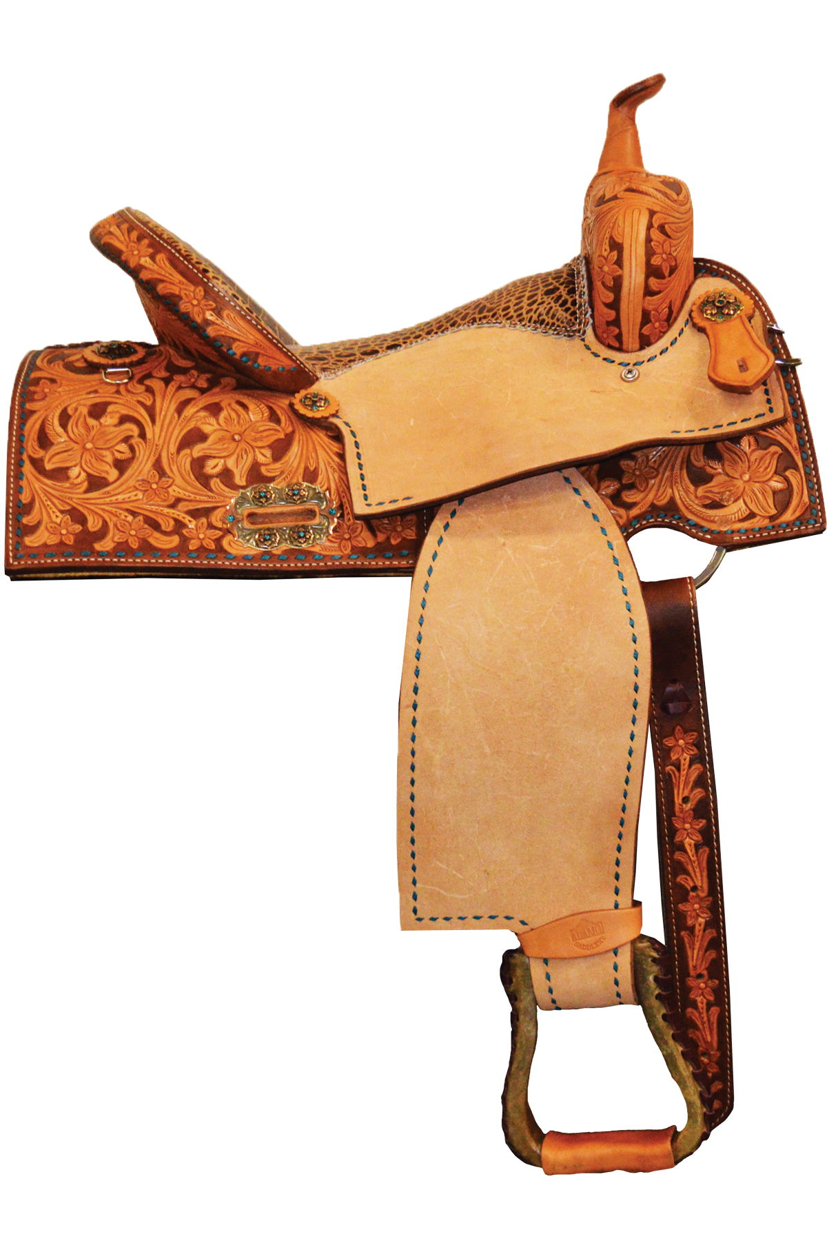 SD-1 Burning Sapphire Barrel Saddle