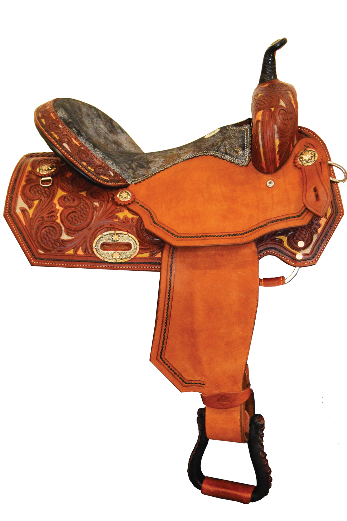 SD-3 Bronze Sunset Barrel Saddle