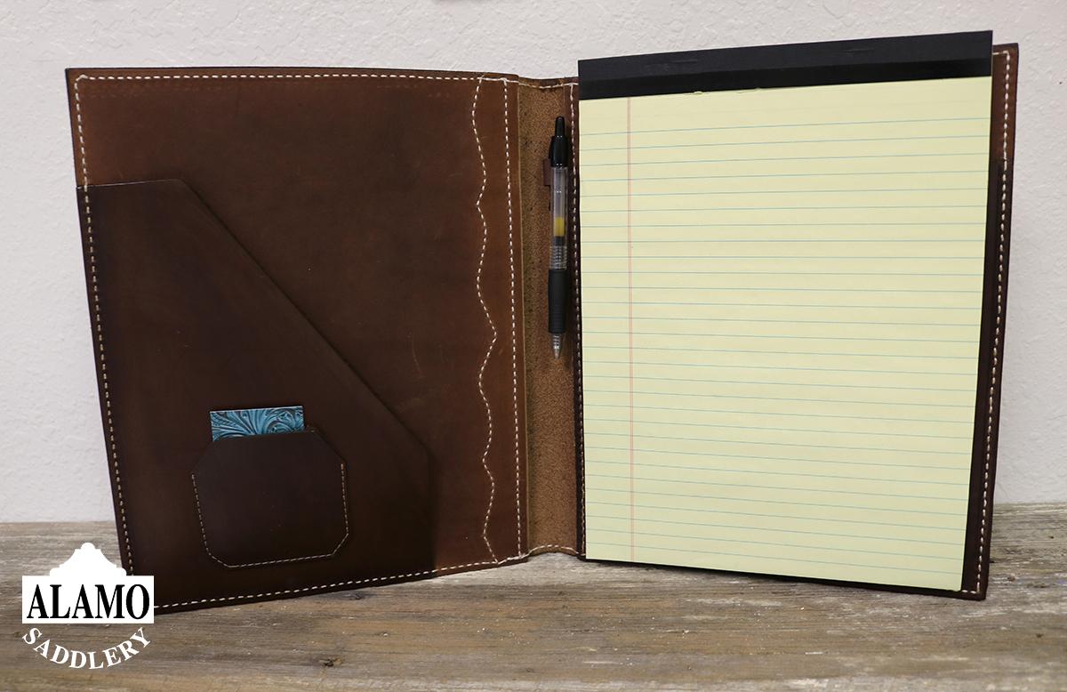 Chocolate Leather Portfolio w/ Combo Tooling