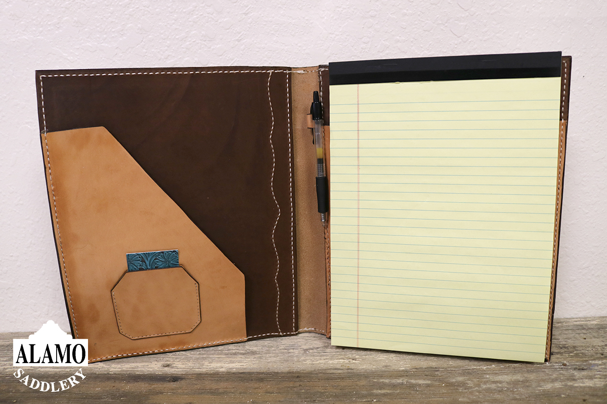 Golden Leather Portfolio w/ Geo Tooling