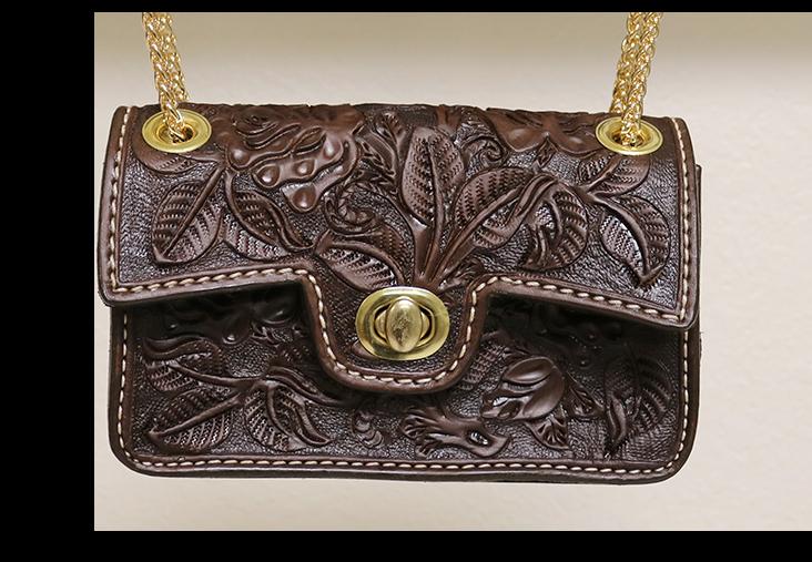 Chocolate Handbag w/ AA Tooling