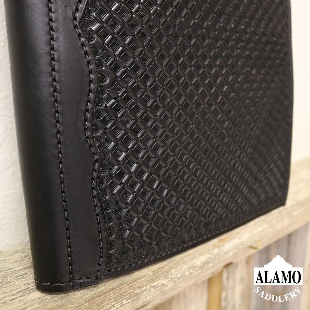 Black Leather Portfolio w/ Geo Tooling