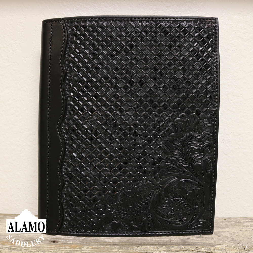 Black Leather Portfolio W/ Combo Tooling