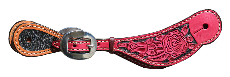 382-RP Rose & light leather color w/ floral tooling