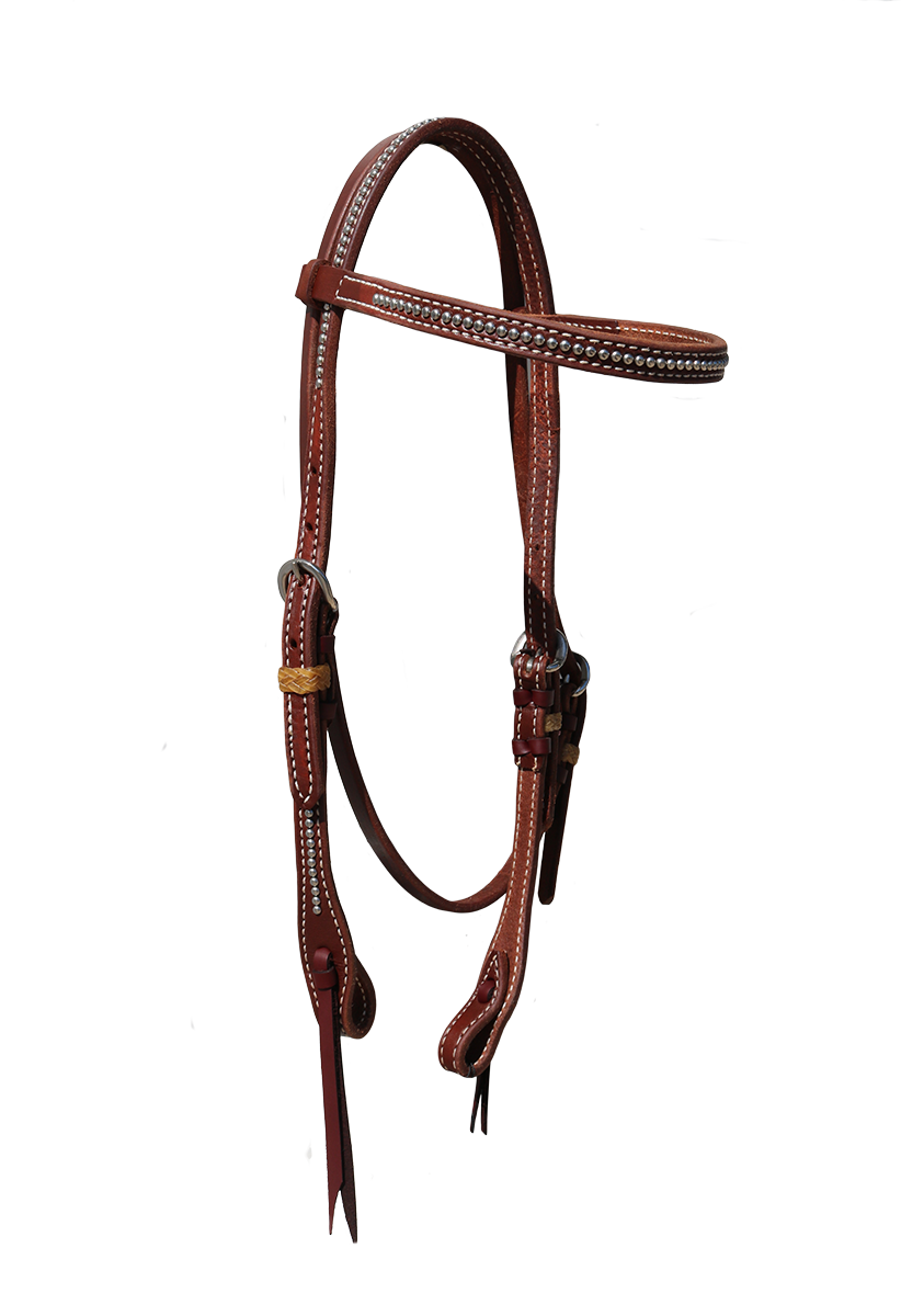 2030-HP OILED HARNESS LEATHER;SS SPOTS;RAWHIDE LOOPS