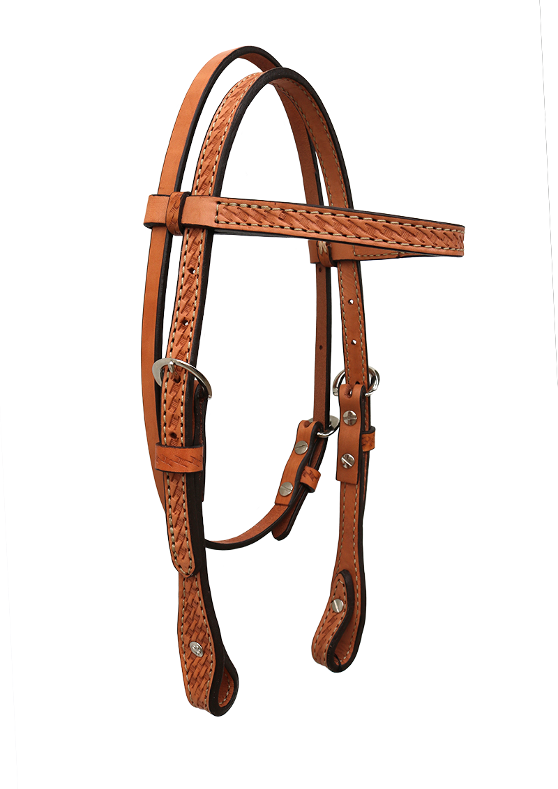 2715-K PONY BASKET TOOLED HEADSTALL