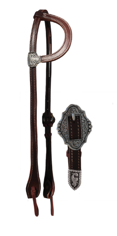 E-2070-1CS Elite chocolate one ear headstall