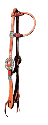 E-2071-HS Elite One Ear Headstall Harness leather