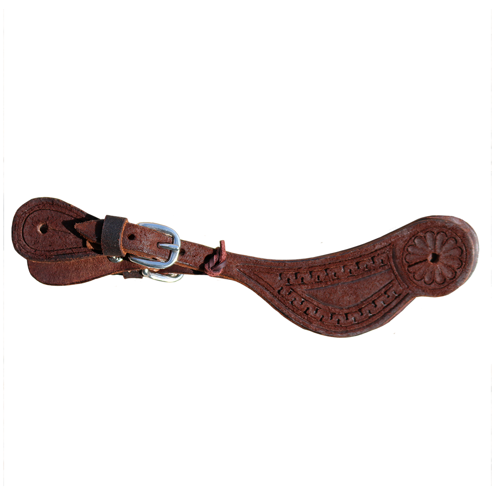 E-301-CRO Elite Spur Strap Chocolate Rough Out