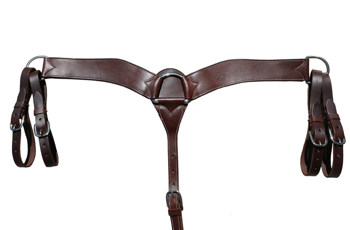 E-3900-C ELITE CHOCOLATE, LATIGO LINED BREASTCOLLAR, WITH DOUBLE TUGS