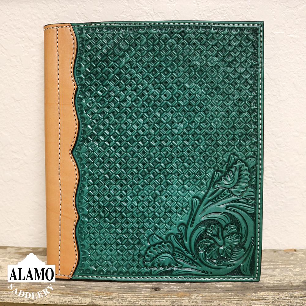 Turq leather portfolio w/ combo tooling