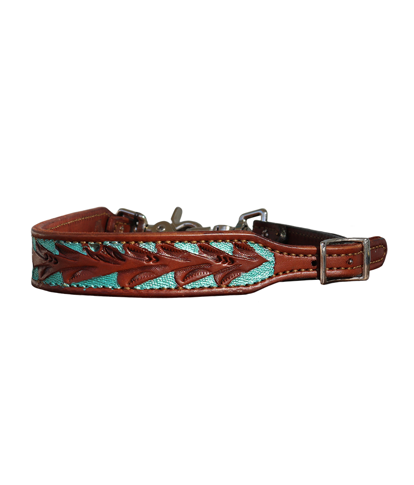 200-FT WITHER STRAP w FLORAL TOOLING PAINTED