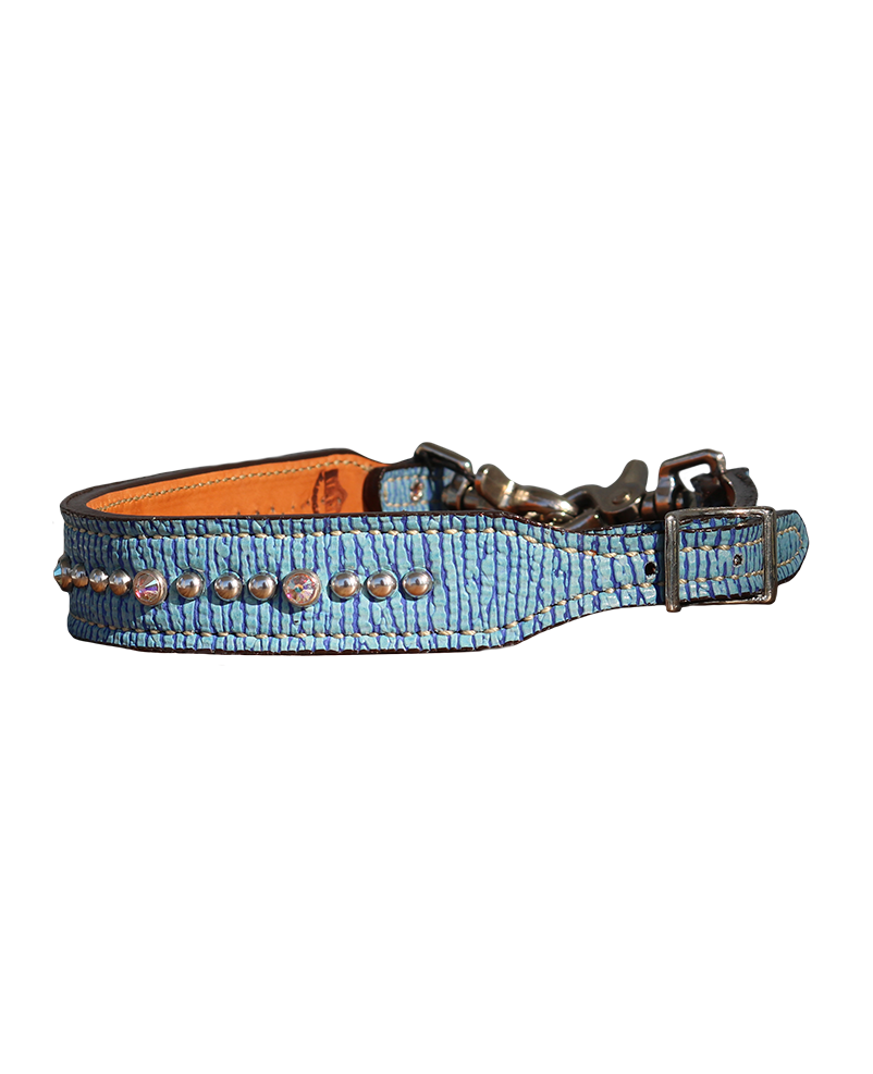 200-JB Blue shark overlay wither strap