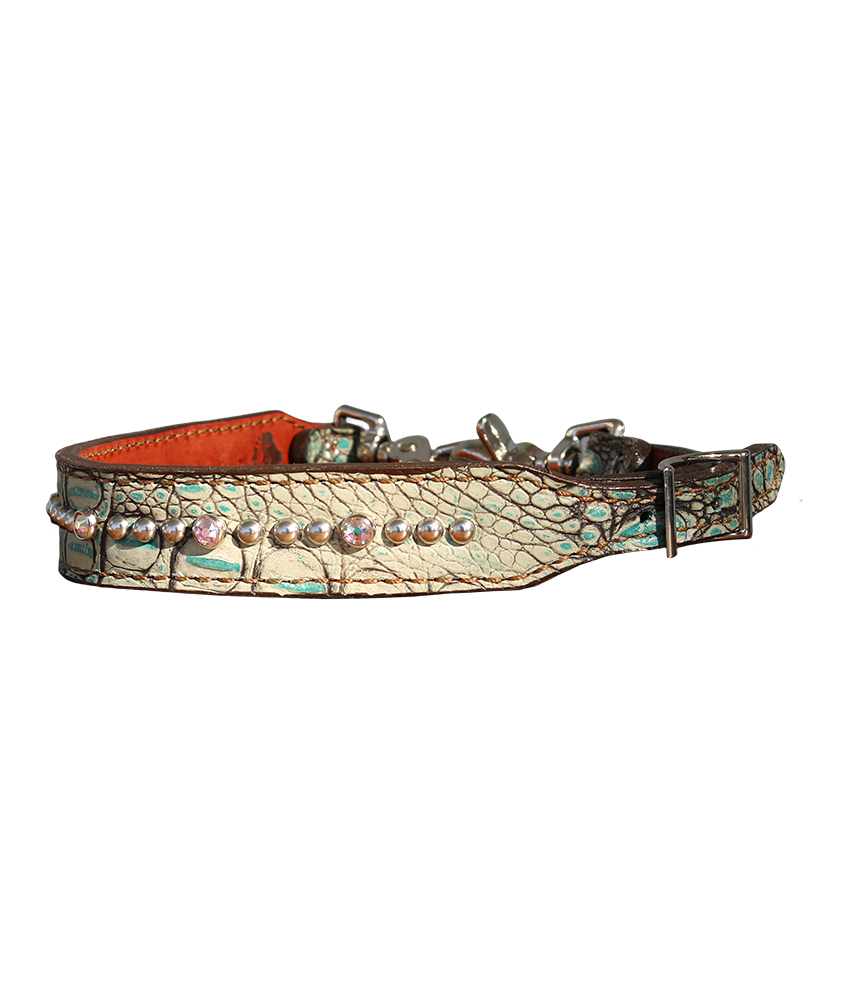 200-JGT Turquoise gator wither strap