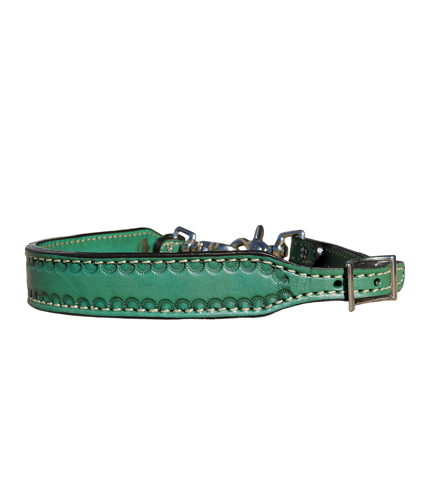 200-Q Turquoise Leather Whither Strap