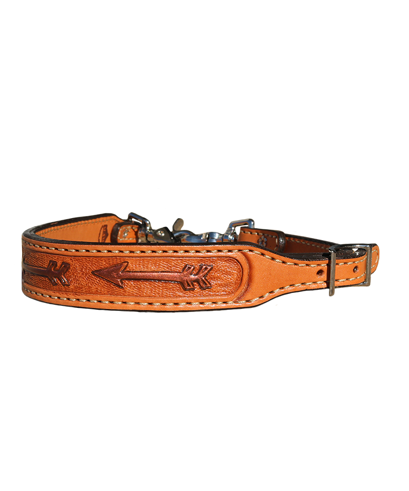 200-RA Wither Strap in Toast leather w/ Painted Arrows