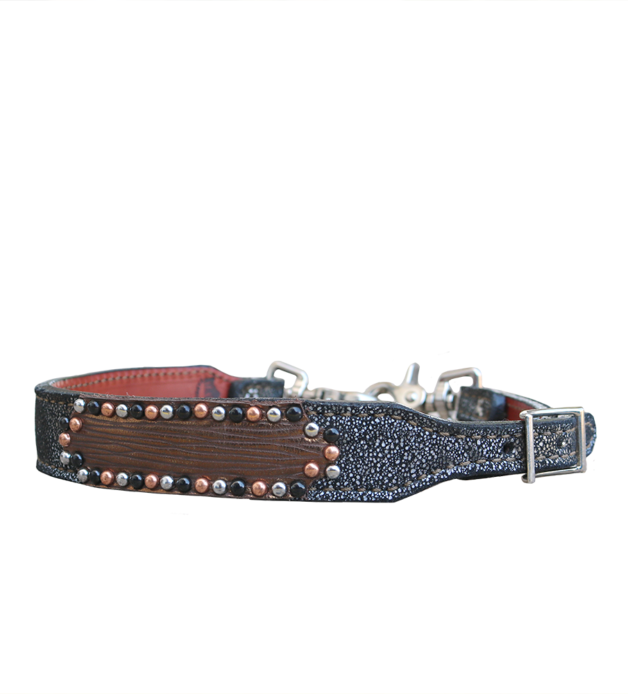 200-TRI wither strap w/ copper overlay and spotting