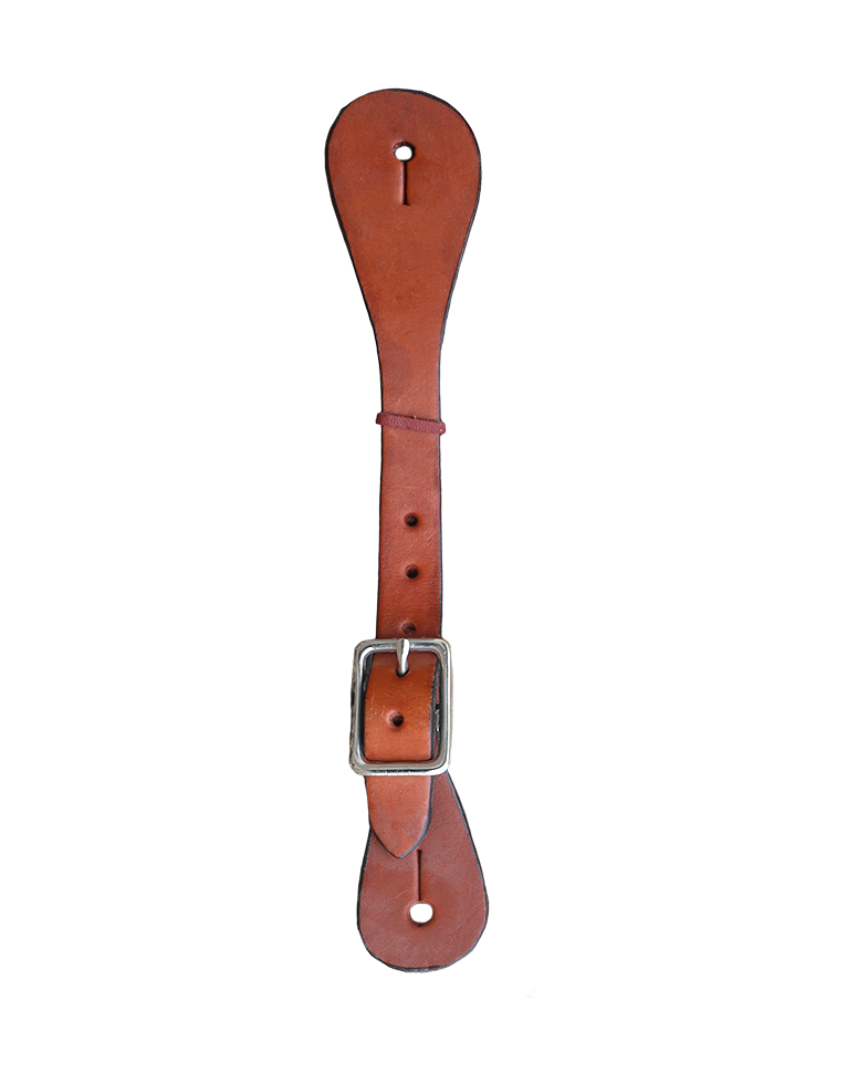 370-T LADIES AND KID'S SPUR STRAP TOAST LEATHER SMOOTH PLAIN