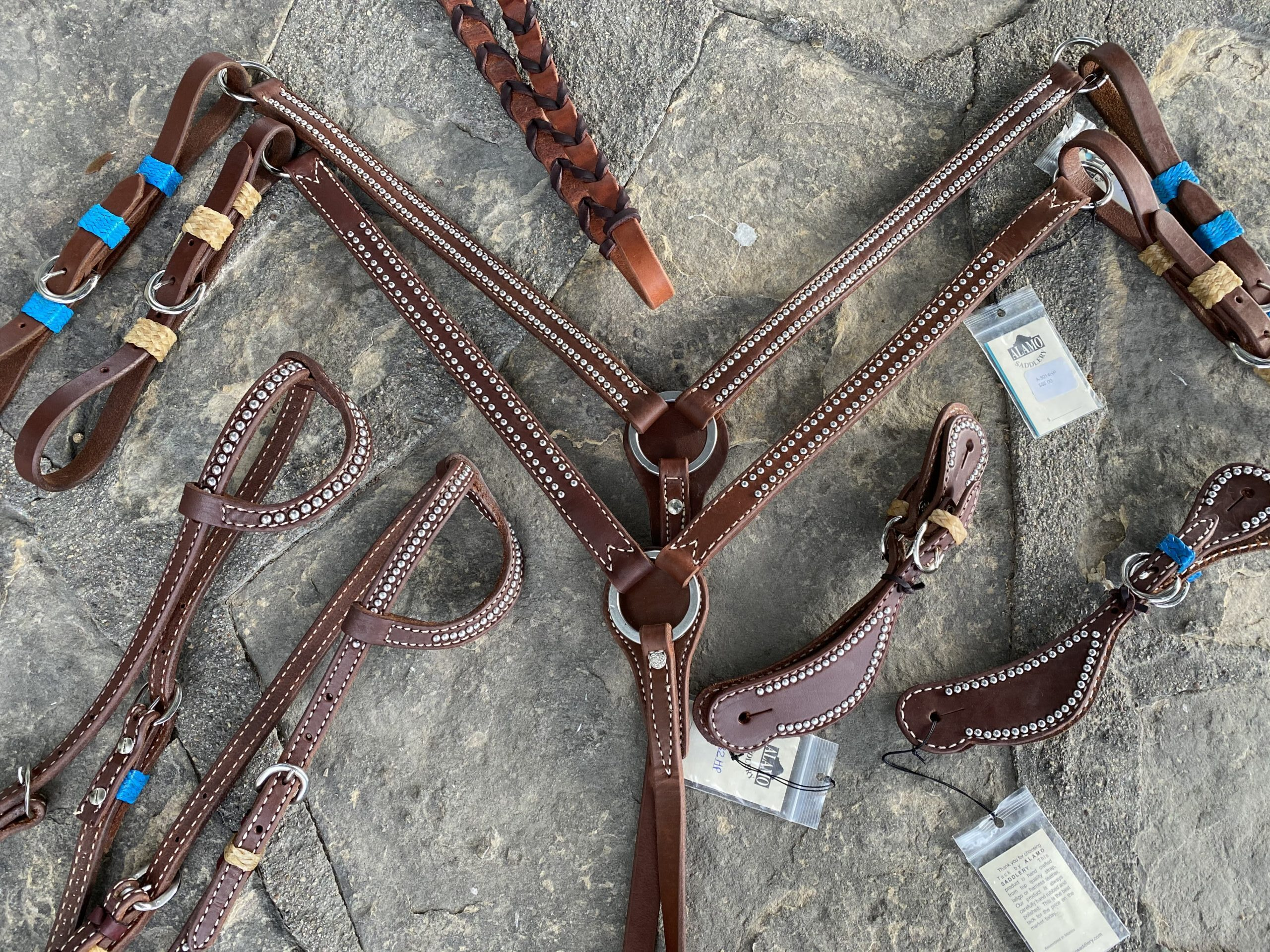 OILED HARNESS LEATHER WITH RAWHIDE tack treasure of the day