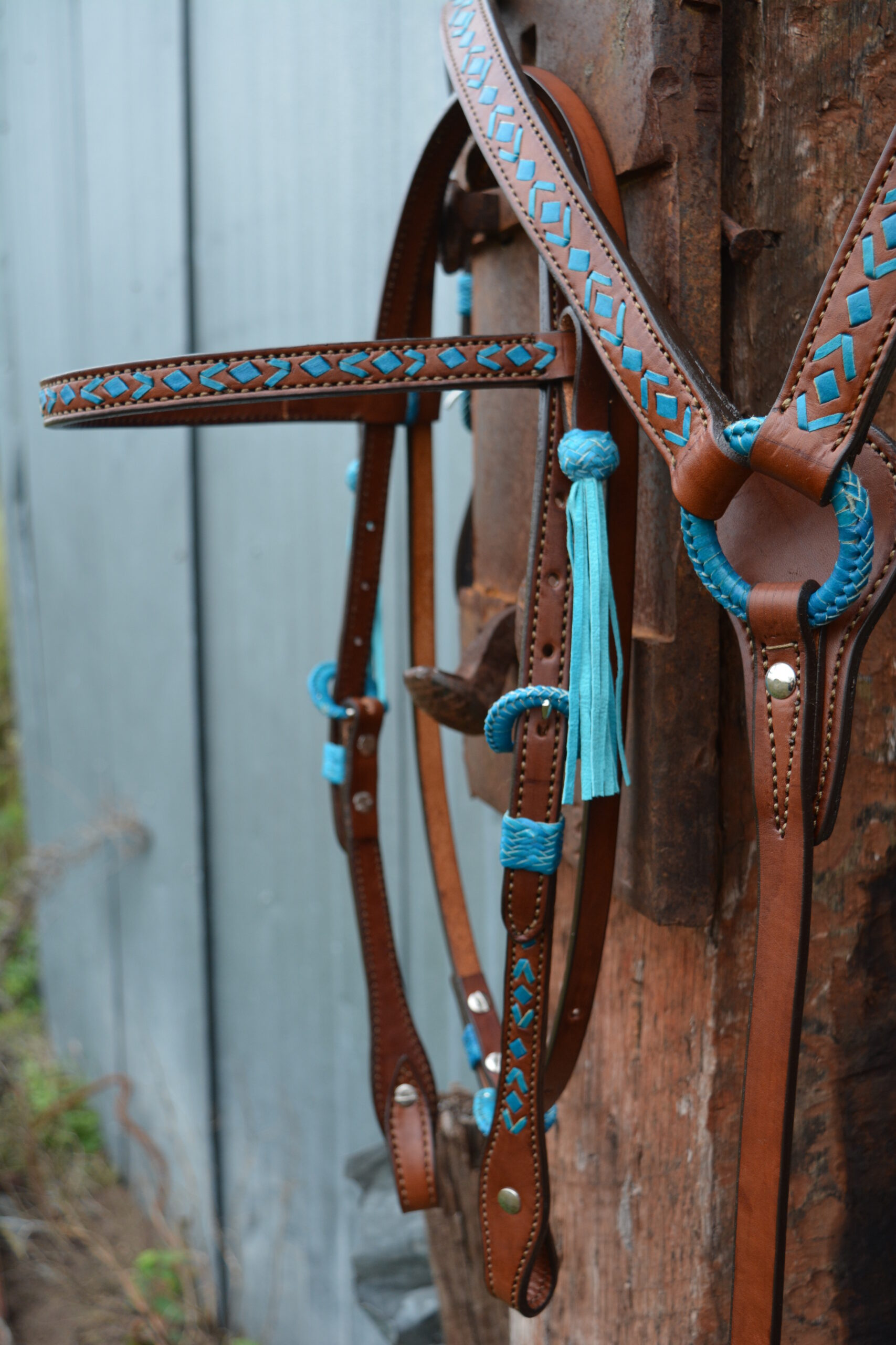 Turquoise Rawhide Southwest Design Tack Trasure of the Day