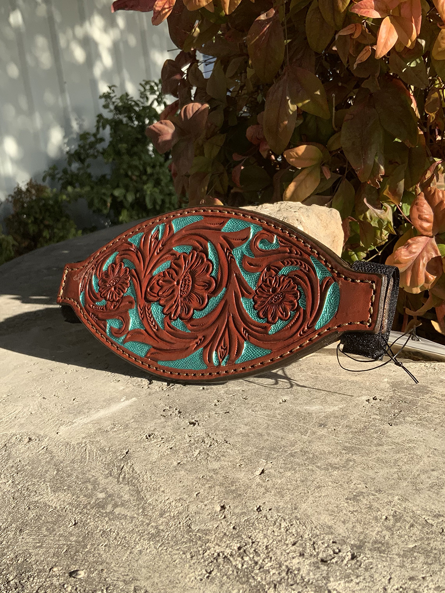 4310-FT Bronc nose toast leather floral tooled