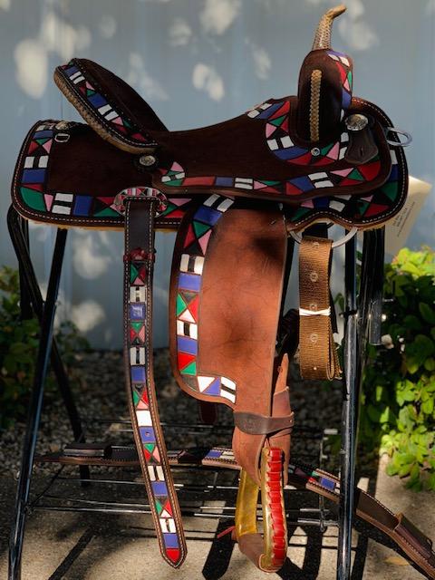 Aztec Barrel Saddle Seat Size: 14.5