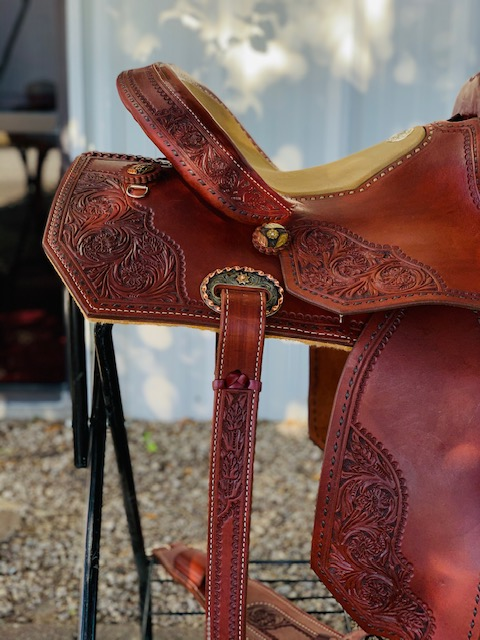 Full Spot tooled barrel saddle SEAT SIZE 14.5