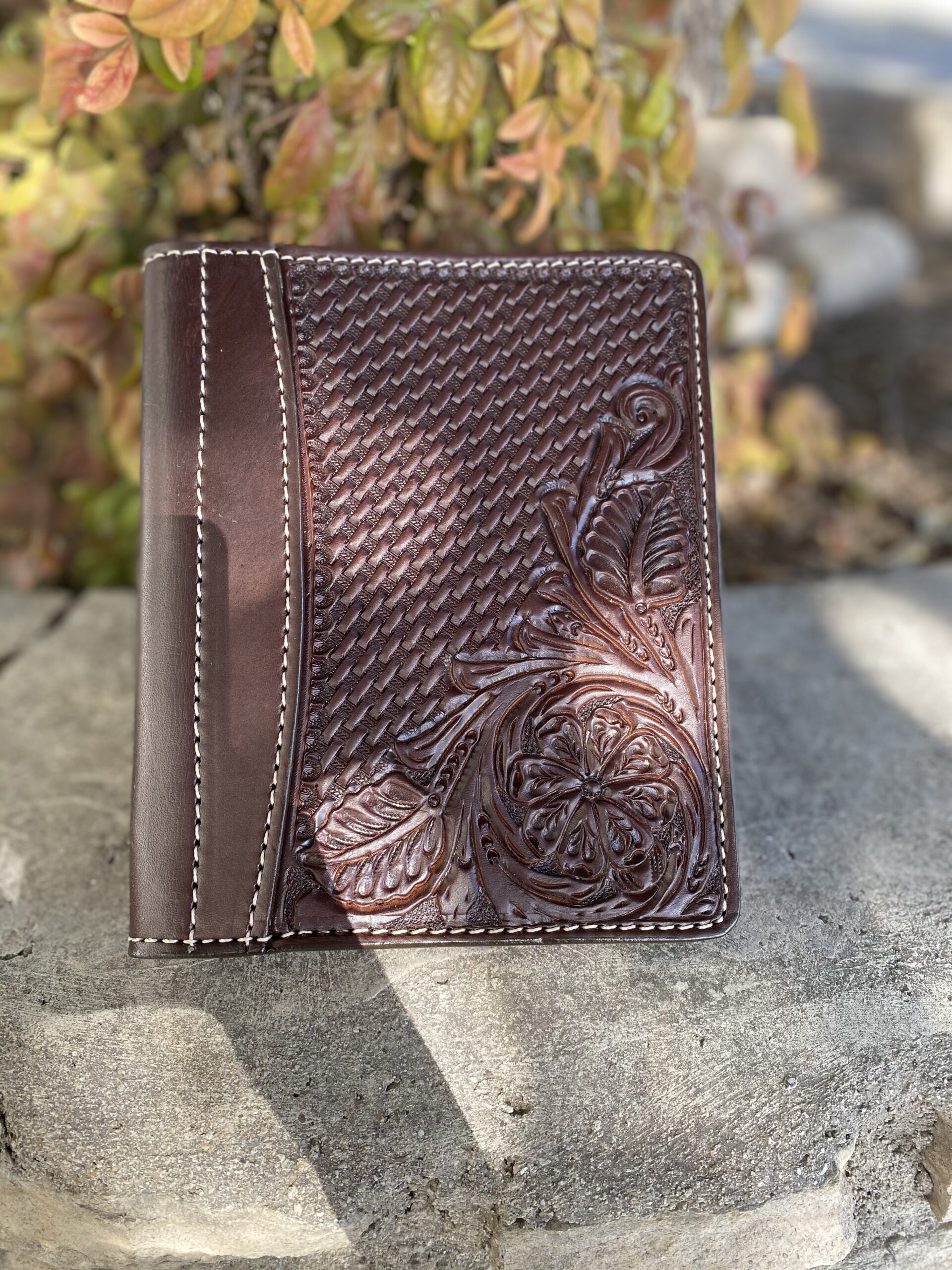 Chocolate Combo Tooled Mini Portfolio/Planner