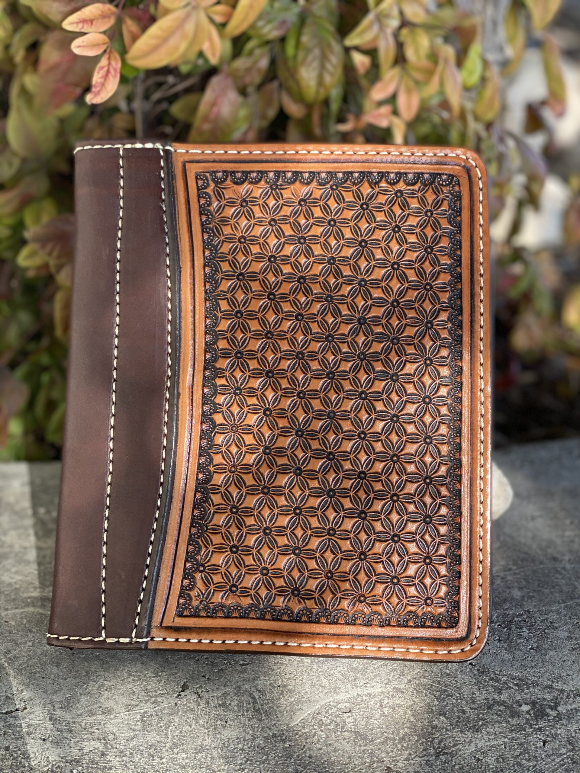 Golden Geo tooled Tooled Mini Portfolio/Planner