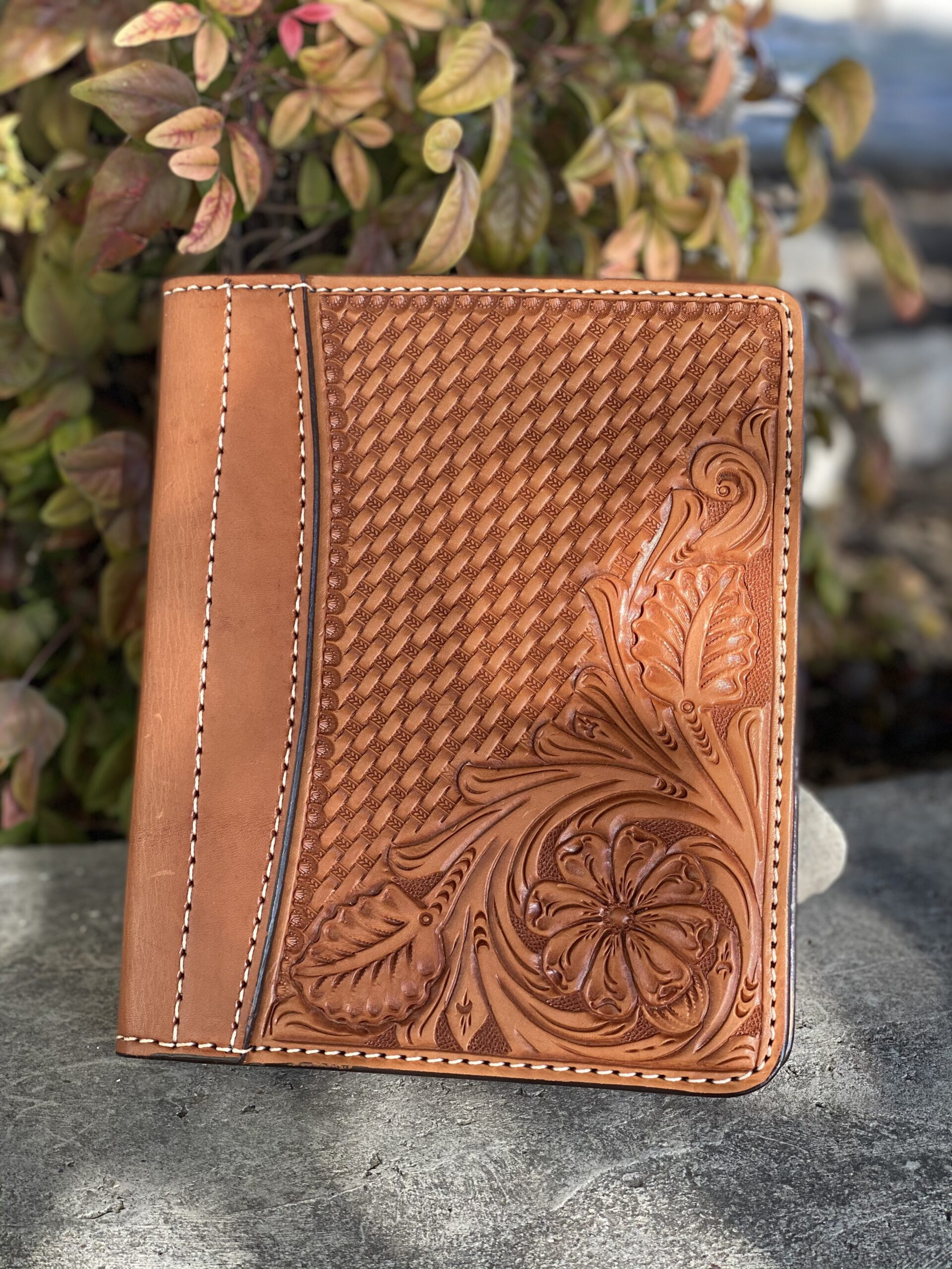 Golden combo tooled Tooled Mini Portfolio/Planner