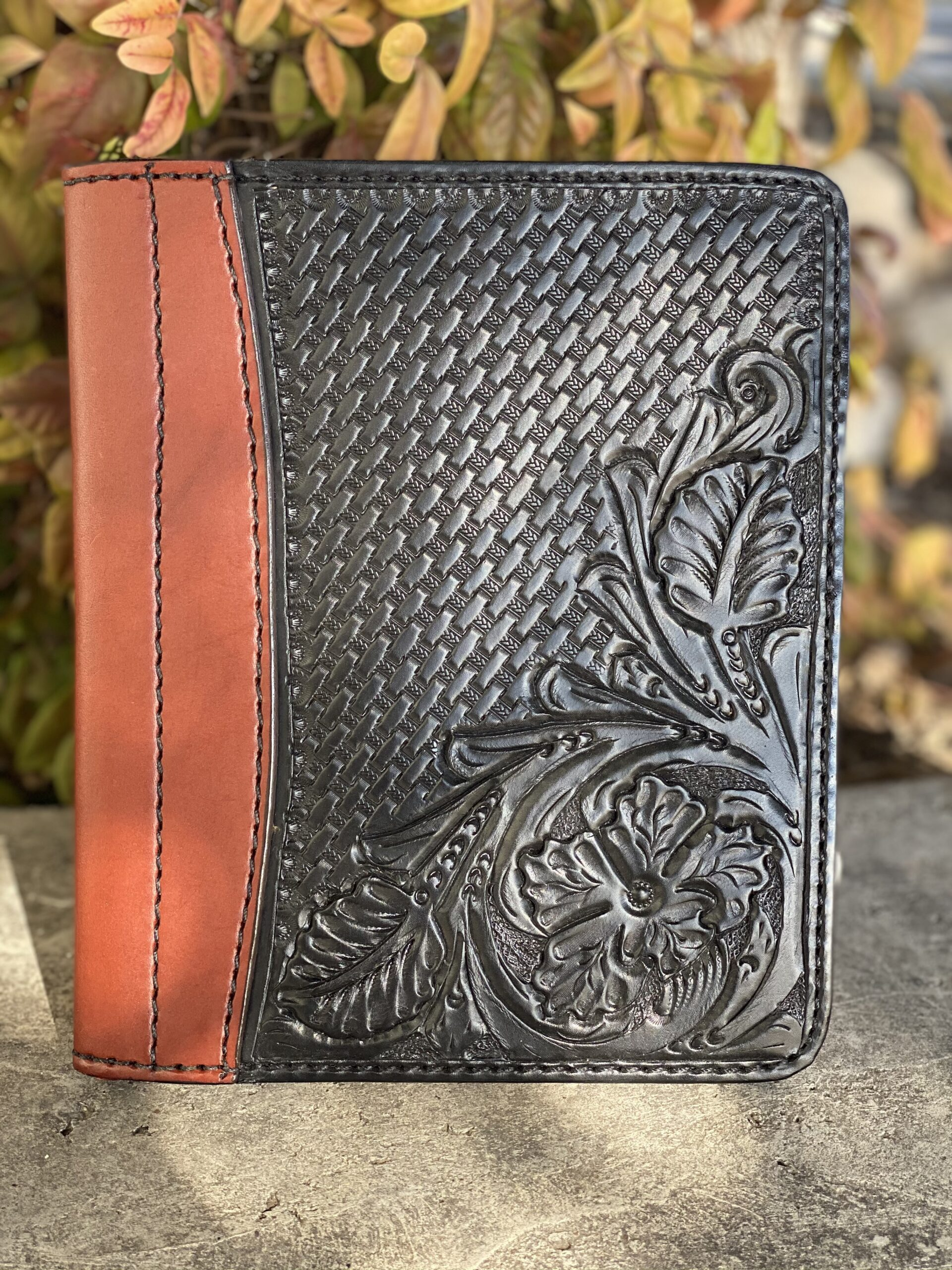 black combo tooled Tooled Mini Portfolio/Planner