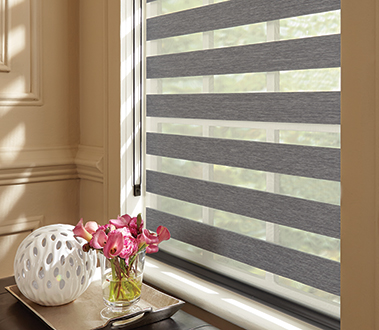 An inspired hybrid of fabric shades and horizontal blinds, Mezzanine Layered Shades offer the ultimate flexibility in light control.