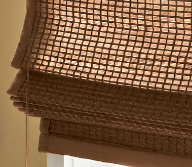 Graber Tradewinds® Natural Shades are crafted from bamboo reed, slit bamboo, sisal, grass, and jute materials. They add natural color, texture, and dimension to your windows.