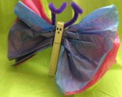 DIY Tissue Paper Butterflies Easy Easter Crafts for Kids