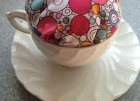 DIY Tea Cup Pin Cushion Mother's Day Craft for Kids