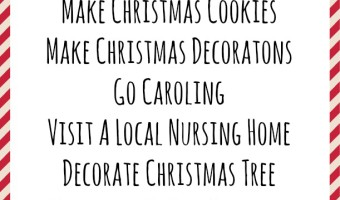With the holidays right around the corner, you may be trying to find some great Christmas Activities For Kids. We have a simple list of great things your kids can do, plus a FREE PRINTABLE too