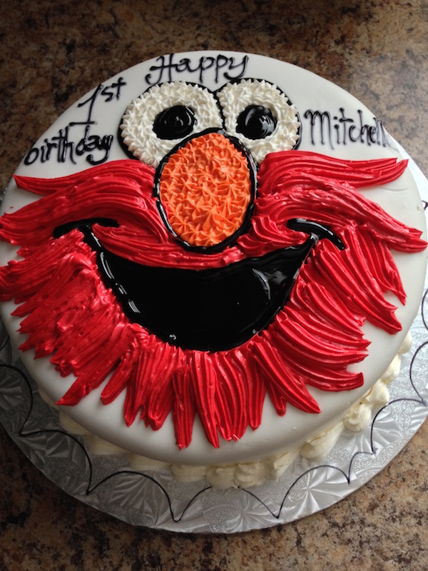 Elmo party games for toddlers cake 2