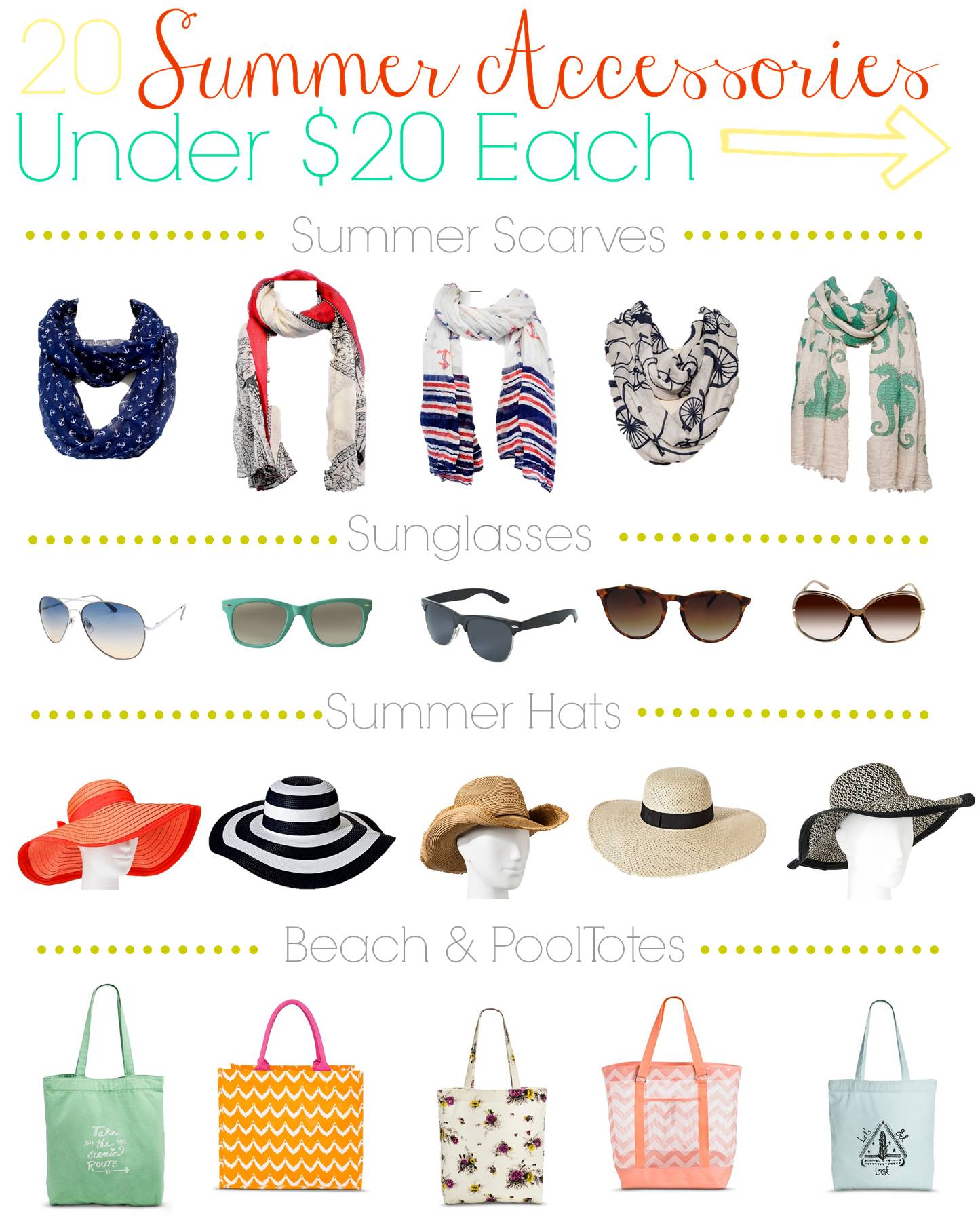 Looking for ways to take your seasonal wardrobe to the next level? Check out our favorite 20 summer teen fashion accessories under $20 each & get shopping!