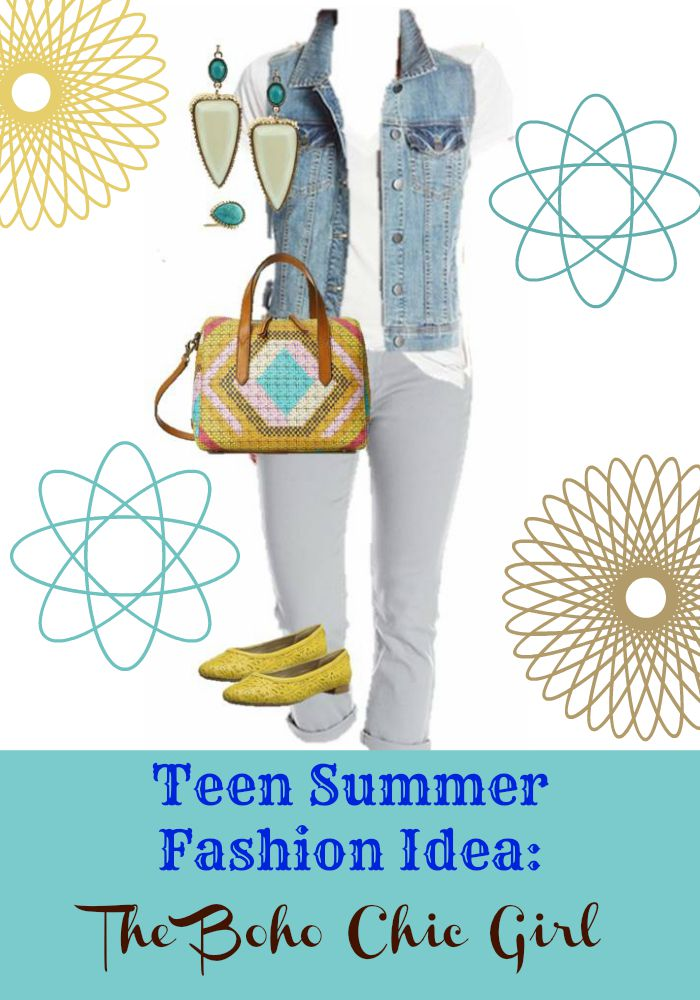 Need some teen summer fashion inspiration? Check out our pick for a fabulous boho chic fashion look for teens. This outfit is also perfect for school!