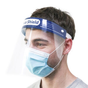 Man with Face Shield