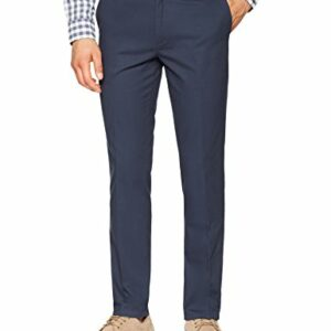 Amazon Essentials Men's Slim-Fit Wrinkle-Resistant Flat-Front Chino Pant, Navy, 36W x 30L