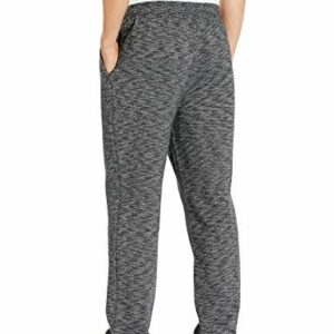 Amazon Essentials Men's Fleece Sweatpants, Charcoal Space-Dye, Medium
